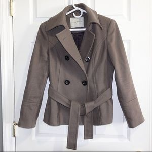 Zara Basics Pea Coat Wool Coat Jacket Size M